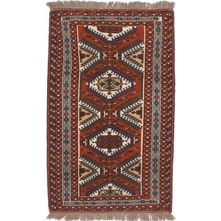 Ecarpetgallery Hand-Knotted Persian Guchan Brown Wool Rug (3'11 x 6'11)