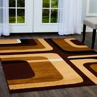 """Home Dynamix Premium Collection Contemporary Ebony Accent Rug (3'7"""" X 5'2"""")"""