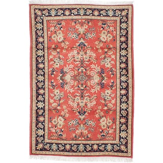 Ecarpetgallery Hand-Knotted Persian Sarough Brown Wool Rug (3'3 x 4'8)