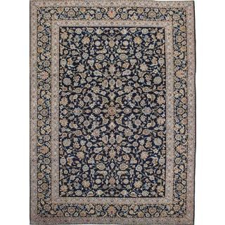 Ecarpetgallery Hand-Knotted Persian Kashan Blue Wool Rug (8'10 x 11'11)