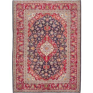 Ecarpetgallery Hand-Knotted Persian Kashan Red Wool Rug (8'1 x 11')