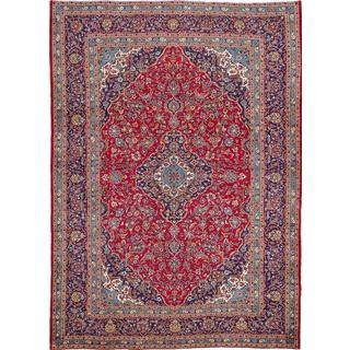 Ecarpetgallery Hand-Knotted Persian Kashan Red Wool Rug (8'3 x 11'3)