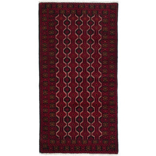 Ecarpetgallery Hand-Knotted Persian Finest Baluch Red Wool Rug (3'3 x 6'4)