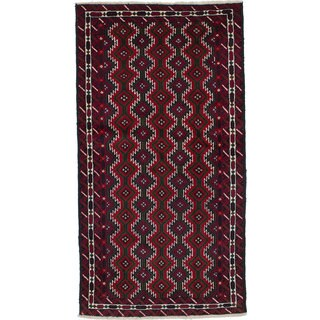 Ecarpetgallery Hand-Knotted Persian Finest Baluch Red Wool Rug (3'6 x 6'7)