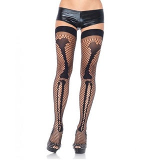 Women's Bone Net Thigh Highs