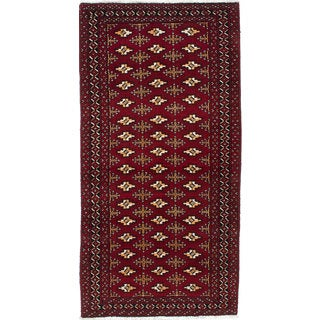 Ecarpetgallery Hand-Knotted Persian Finest Baluch Red Wool Rug (2'8 x 5'5)