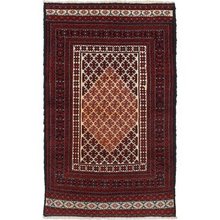 Ecarpetgallery Hand-Knotted Persian Finest Baluch Red Wool Rug (2'9 x 4'9)