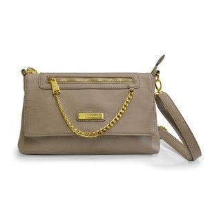 Adrienne Vittadini Flat Top Vegan Leather Crossbody Handbag