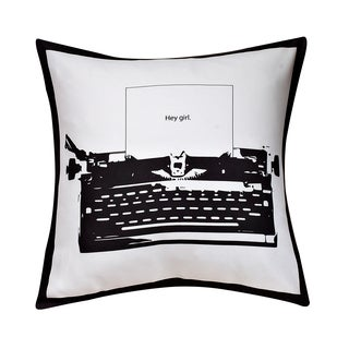 Swift Home Collection Fun Decorative Throw Pillow-typewriter