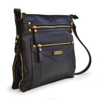 Adrienne Vittadini Distressed Pebble Grain Crossbody Handbag