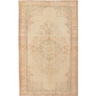 Ecarpetgallery Hand-Knotted Anatolian Sunwash Beige Wool Rug (5'10 x 9'4)