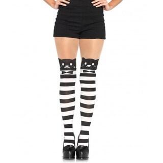 Leg Avenue Women's Fancy Cat Pantyhose