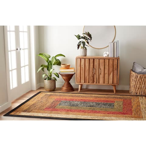 Home Dynamix Royalty Collection Traditional Black Area Rug
