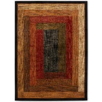 """Home Dynamix Royalty Collection Traditional Black Area Rug - 43""""X62"""""""