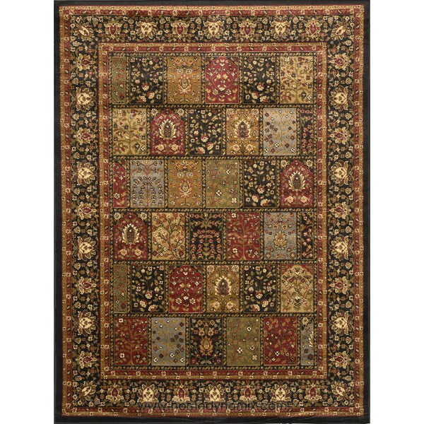 "Home Dynamix Royalty Collection Black (43""X62"") Machine Made Polypropylene Area Rug"