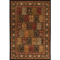 "Home Dynamix Royalty Collection Black Machine Made Polypropylene Area Rug - 43""X62"""