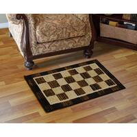 Home Dynamix Royalty Collection Traditional Black-Ivory Area Rug