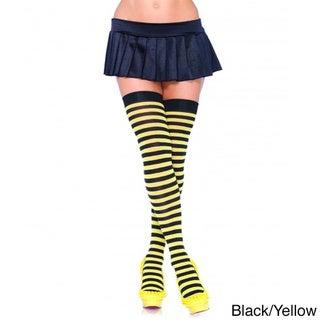 Women's Nylon Striped Stockings
