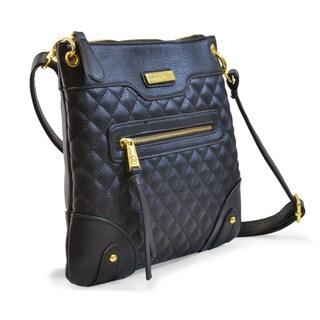 Adrienne Vittadini Zip Top Quilted Crossbody Handbag