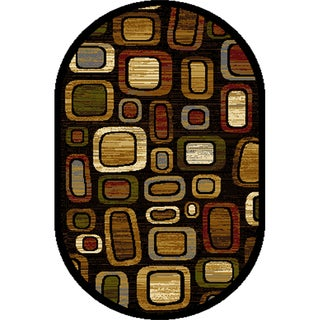 """Home Dynamix Royalty Collection Traditional Black-Multi Area Rug (31"""" x 50"""")"""