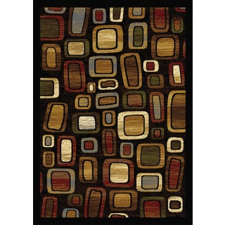 """Home Dynamix Royalty Collection Traditional Black-Multi Area Rug (31""""x 50"""")"""