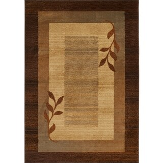 """Home Dynamix Royalty Collection Traditional Brown-Blue Area Rug (19.6""""x31.5"""")"""