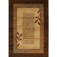 Home Dynamix Royalty Collection Traditional Brown-Blue Area Rug