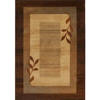 "Home Dynamix Royalty Collection Traditional Brown-Blue Area Rug (43""x62"")"