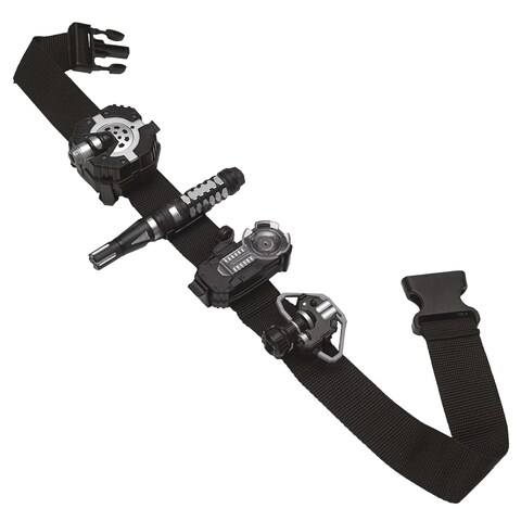 SpyX Micro Gear Set, adjustable belt with 4 essential spy tools - Black