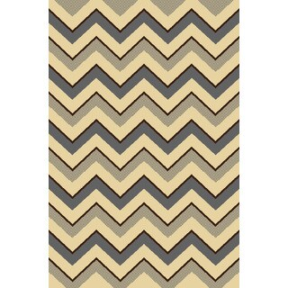 """Home Dynamix Royalty Collection Traditional Gray-Ivory Area Rug (31""""x 50"""")"""