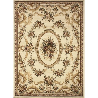 """Home Dynamix Royalty Collection Ivory (43"""" x 62"""") Machine Made Polypropylene Area Rug"""