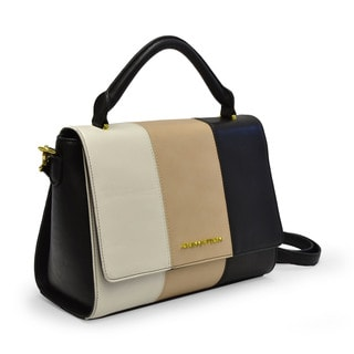 Adrienne Vittadini Stripe Crossbody Satchel Handbag
