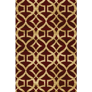 """Home Dynamix Royalty Collection Red (31""""x 50"""") Machine Made Polypropylene Accent Rug"""