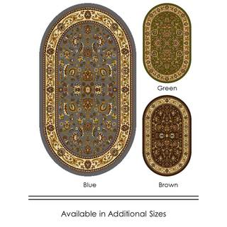"Home Dynamix Royalty Collection Traditional (31"" x 50"") Oval Machine Made Polypropylene Accent Rug"