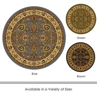 "Home Dynamix Royalty Collection Traditional (39"") Round Machine Made Polypropylene Area Rug"