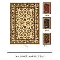 """Home Dynamix Royalty Collection Traditional (43""""X62"""") Machine Made Polypropylene Area Rug"""