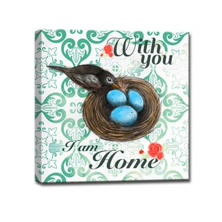 Ready2HangArt 'With you, I am Home' Wrapped Canvas Art