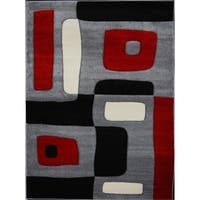 Home Dynamix Sumatra Collection Contemporary Black Area Rug - Black/Red - 2'6 x 4'6