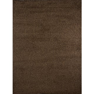 """Home Dynamix Synergy Collection Brown (3'3"""" X 4'3"""") Machine Made Polypropylene Area Rug"""