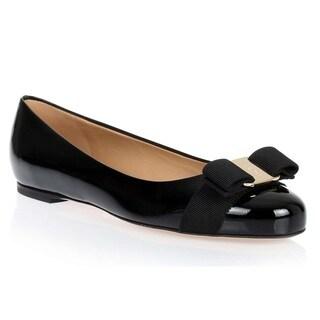 Ferragamo Patent Varina Slip-on Shoes - Nero