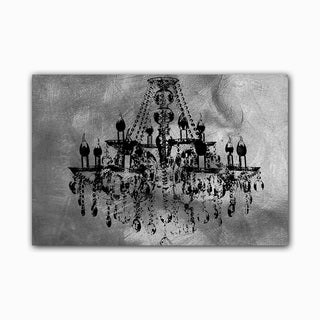 Silver Chic Chandelier Printed on Framed Ready to Hang Canvas
