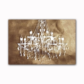 Copper Chic Chandelier Printed on Framed Ready to Hang Canvas