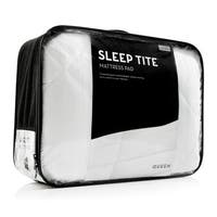 SLEEP TITE Deep Pocket Fit Quilted Mattress Pad with Damask Cover and Down Alternative Fill