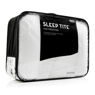 Link to Deep Pocket Fit Quilted Mattress Pad with Damask Cover and Down Alternative Fill by SLEEP TITE - White Similar Items in Mattress Pads & Toppers