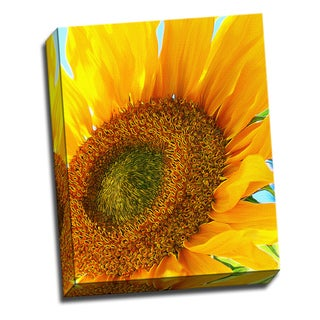 Sunflower Flower Canvas Printed on Ready to Hang Framed Stretched Canvas