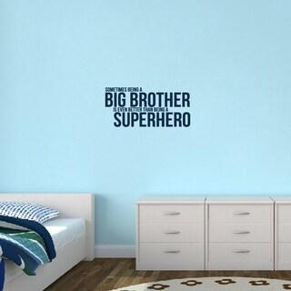 Big Brother Superhero' 28 x 13-inch Wall Decal