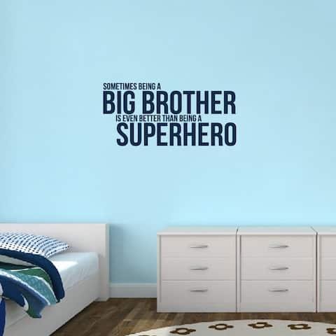 Big Brother Superhero' 38 x 18-inch Wall Decal