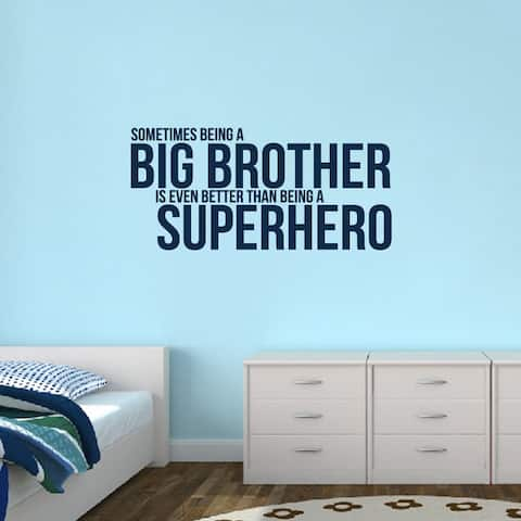 Big Brother Superhero' 48 x 22.5-inch Wall Decal