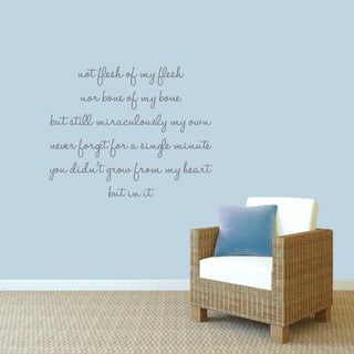Adoption Creed' 40 x 32-inch Wall Decals