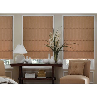 Ashton Linen Stripe Roman Shade 38 to 38.5-inch Wide